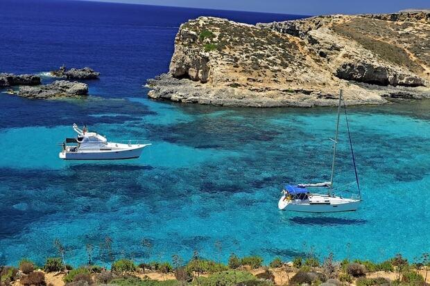 Le lagon bleu à Malte