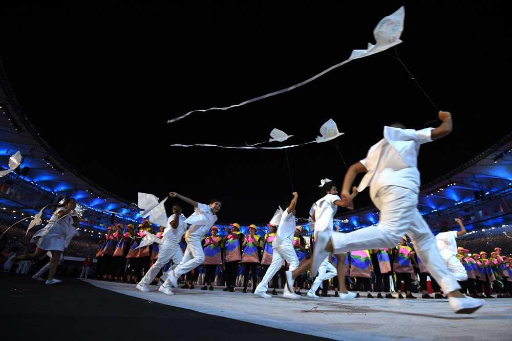 Au coeur de la cérémonie d'ouverture - AFP