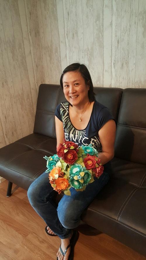 Un bouquet de demoiselle d'honneur
