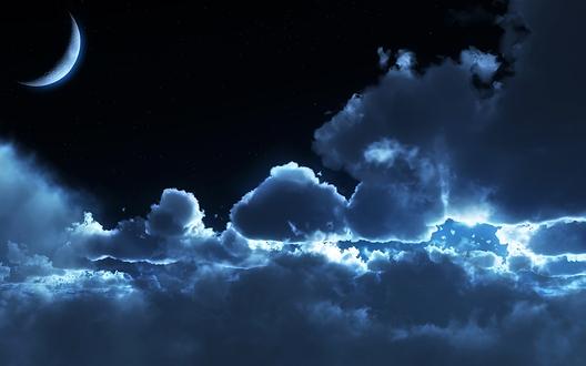 Les portes du ciel sont ouvertes au milieu de la nuit -