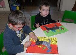 A la manière de Keith Haring...sur le chemin de Souricette...