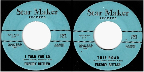 FREDDY BUTLER - STAR-MAKER [S 156] 1963