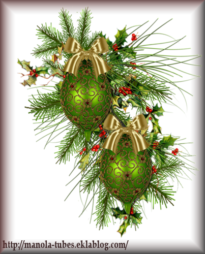 Tube Boule de Noël 2973