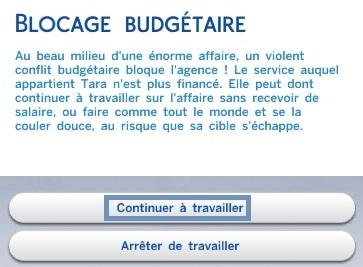 blocage budgétaire