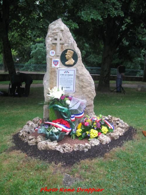 Commémoration de l'appel du 18 juin, en 2015, à Châtillon sur Seine...