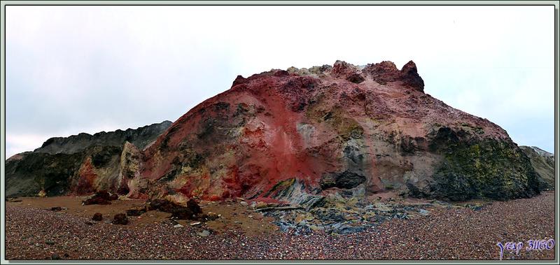 Rouge ... - Smoking Hills - Cape Bathurst - Territoires du Nord-ouest - Canada