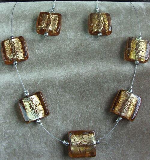 Collier en perles de verre de Murano