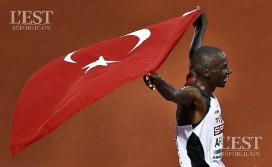 Polat Kemboi Arikan a été titré sur 10000m. Photo AFP