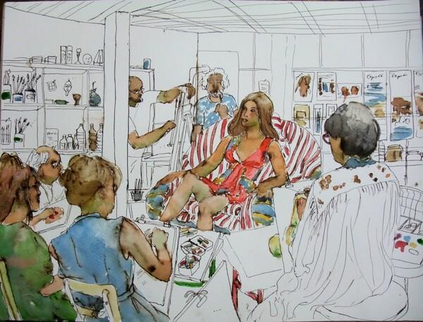 Mercredi - Scène d'atelier (64) Mise en couleurs
