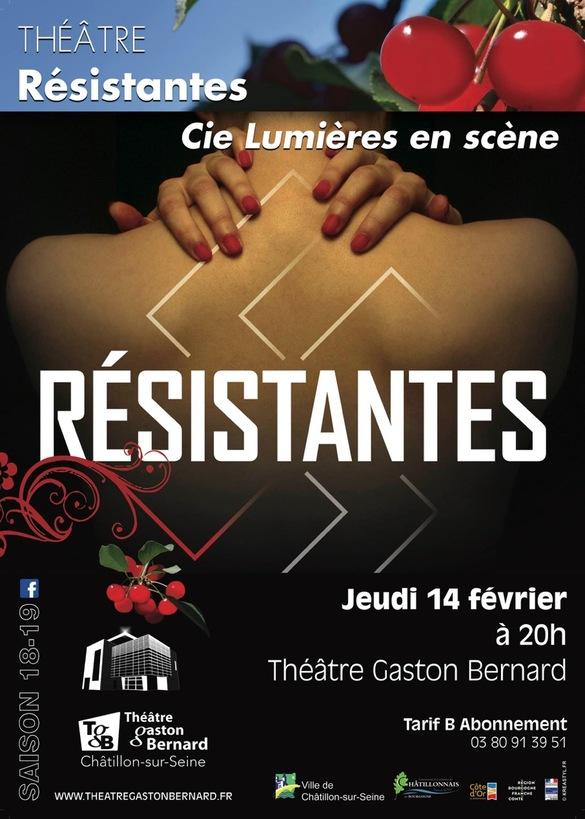 """""""Résistantes"""", une superbe pièce de théâtre à voir bientôt au TGB"""