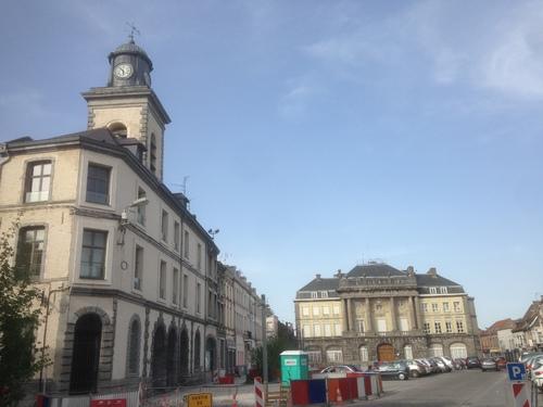 vue de la Place Pierre Delcourt à Condé