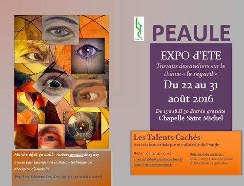 EXPOSITION A LA CHAPELLE SAINT MICHEL DE PEAULE DU 22 AU 31 AOUT 2016
