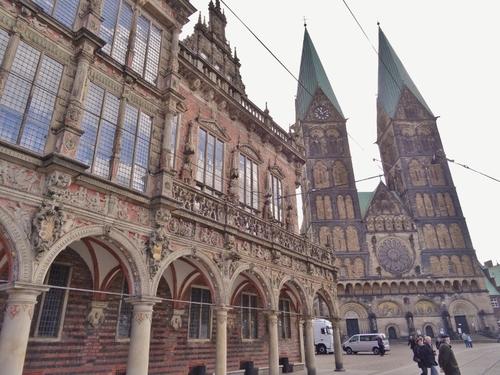 Brême en Allemagne: autour de la Marktplatz (photos)