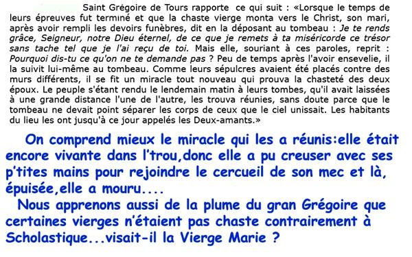 Saint(e)s du 24.05/ Injurieux/ Scholastique/Grégoire de Tours