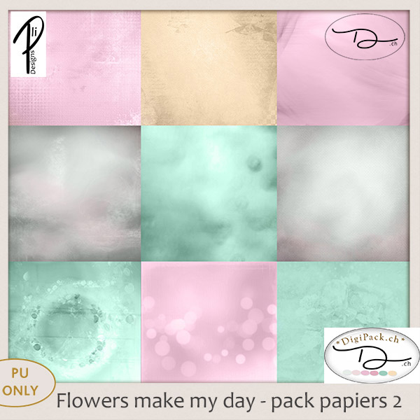 Flower make my day - papier 2 (PU) PliDesigns