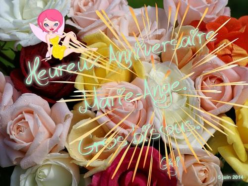 HEUREUX ANNIVERSAIRE MARIE-ANGE