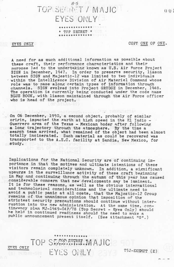 Page 5 - MJ12 - Un comité d'étude des phénomènes OVNIS - Ufologie