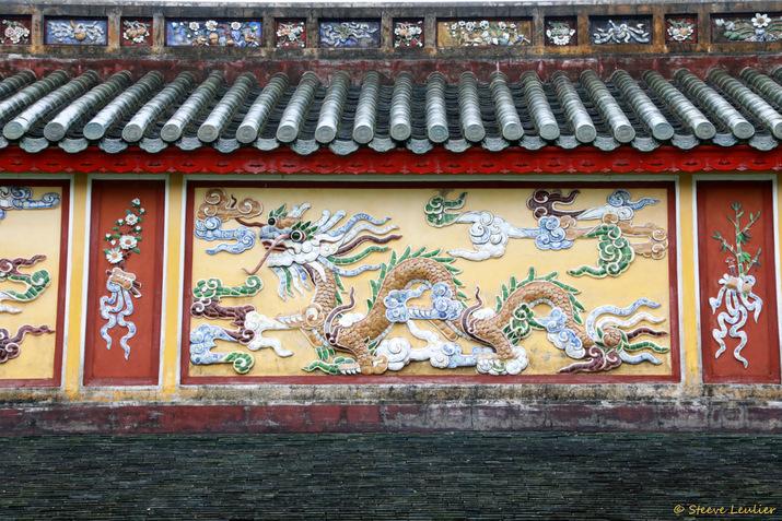 Cité impériale, Cité pourpre interdite, décoration du long corridor gauche