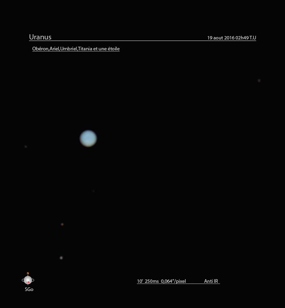 Uranus le 18/19 aout  excellent seeing