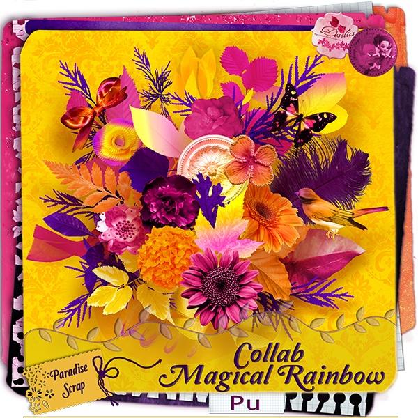"Collab ""Magical Rainbow"" par Scrap'Angie et Desclics"