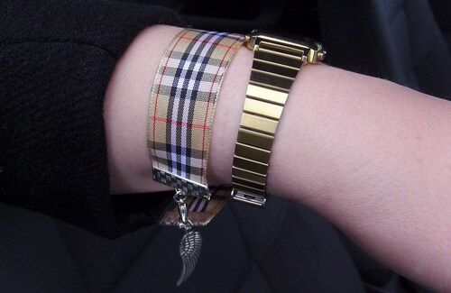 bracelet en ruban burberry façon in the city !!!