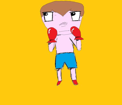 Baby boxer (effet crayon)