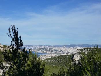 Marseille depuis le Col de la Selle