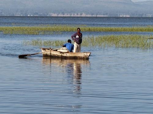 les pêcheurs du lac d'Awasa