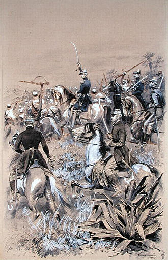 Le duc d'Aumale attaque la Smalah à Taguin le 16 mai 1843 Edouard Detaille 1886