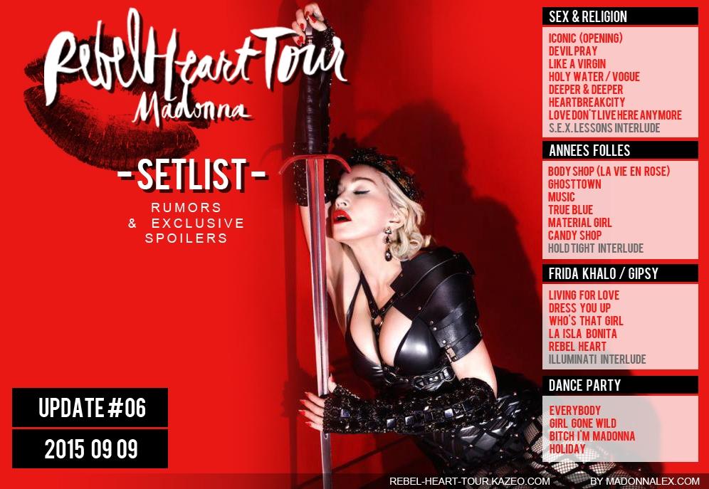 Madonna Rebel Heart Tour Setlist U6