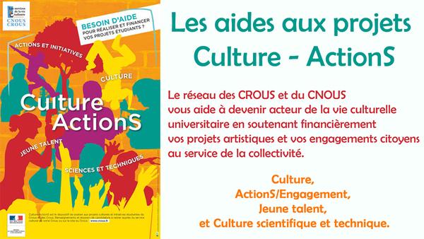 Les aides du CROUS aux projets Culture - ActionS