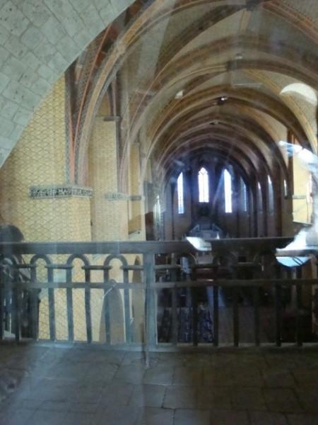 Nef vue de la chapelle d'étage du clocher