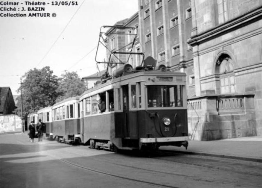 Colmar autrefois : Terminus du tramway. Souvenirs.