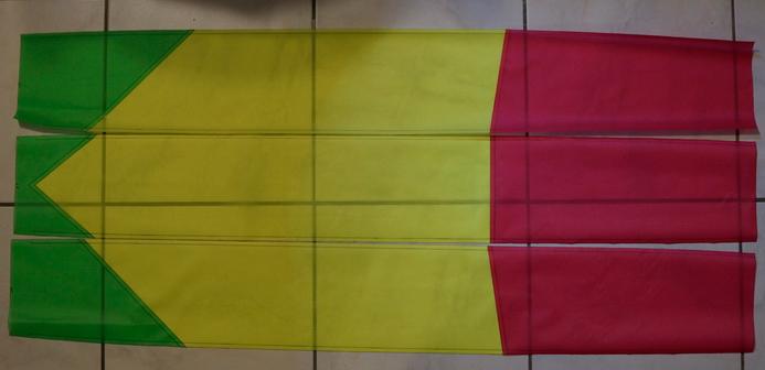 Open Révolution 3m² (aile de traction ) Rubis , jaune fluo ,vert  ..