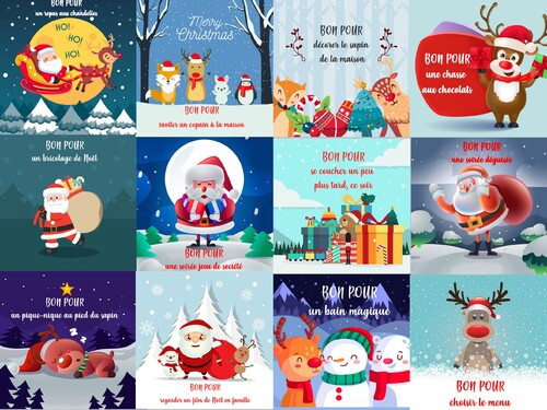 Calendrier de l'avent: mes petits bons pour... Noël
