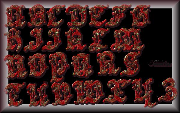Tube alphabet de Noel 2993