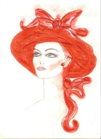 Blog de chouquette :dessins et chant chorale, dame au chapeau