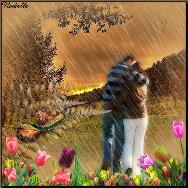 il pleut, il est heureux Hénoa