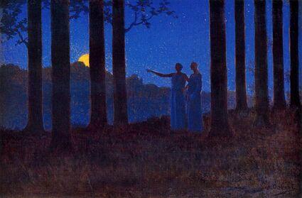 le Mystère de la nuit - Alphonse Osbert (1857-1939)