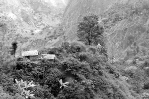Santo Antão : paysage en N&B