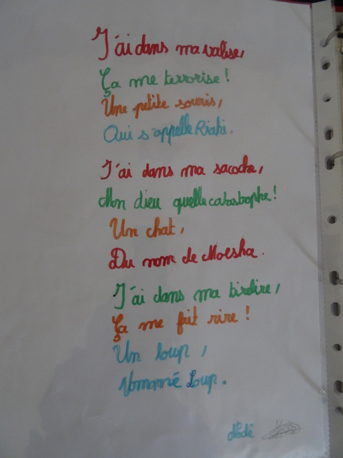 Projet lecture-écriture : LOCATAIRE Jean-Luc Moreau