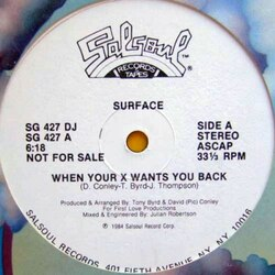 Surface - When Your X Wants You Back