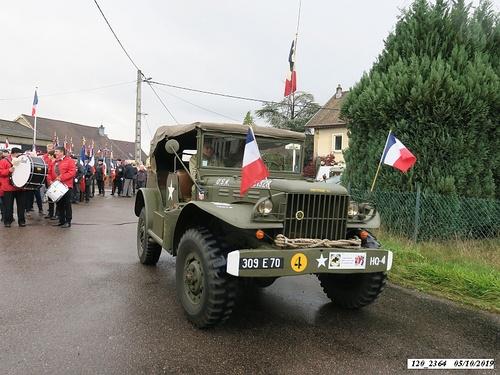 """* Champagney-Éboulet, 75ème anniversaire de la Libération - Cérémonie au monument du """"22ème BMNA"""""""