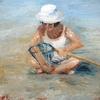 petite fille à la plage