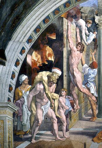 L'incendie du Borgo (détail)