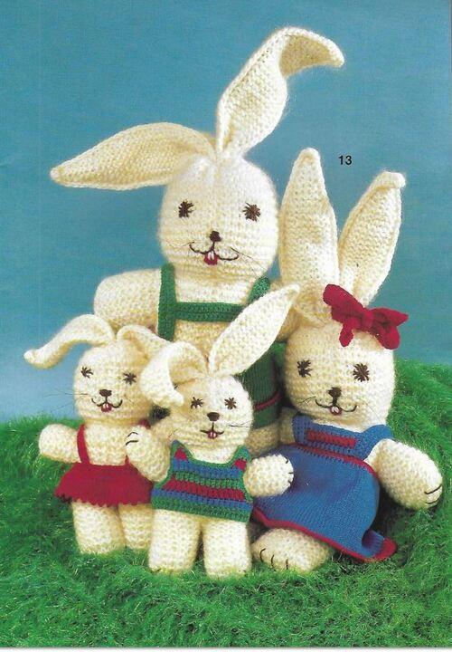 Toute une famille lapin pour Pâques...