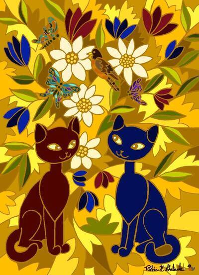 Tableau du samedi : Chats de Robin