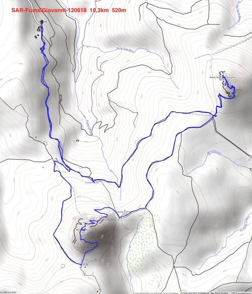 Les monts Fumai et San Giovanni