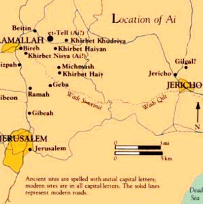 Localisation de Bethel et AÏ