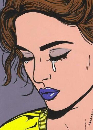 Femmes en larmes, dessins sur les murs et autres supports.